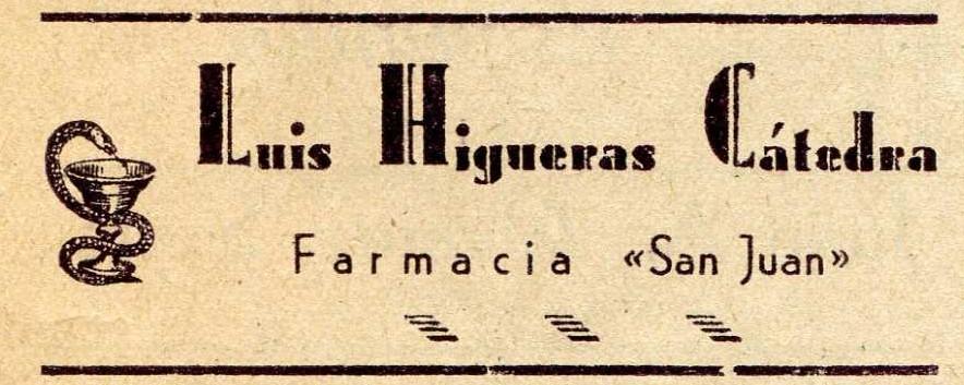 Farmacia Luis Higueras 1948