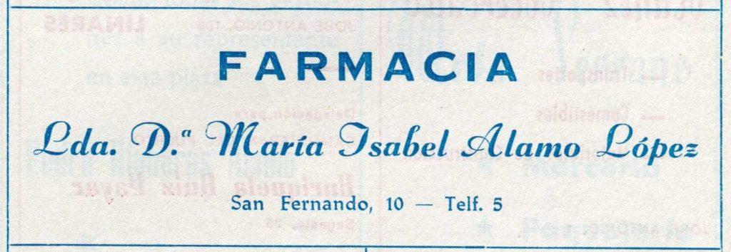 Farmacia María Isabel Álamo López 1972