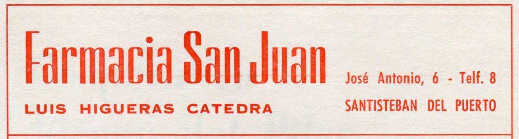 Farmacia San Juan 1972