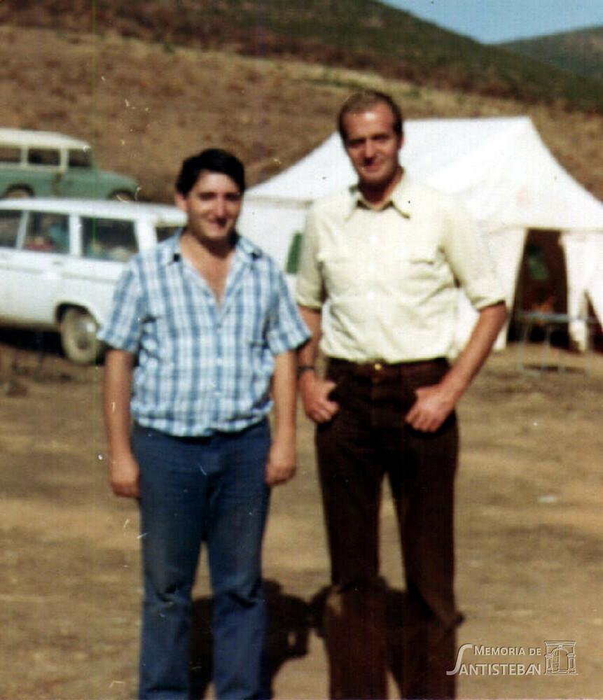 Antonio Ramírez con el Rey