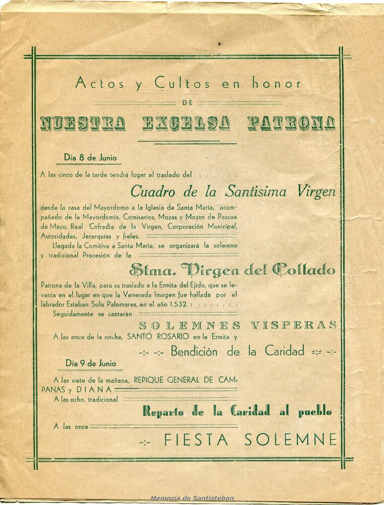 Programación Fiestas 1946