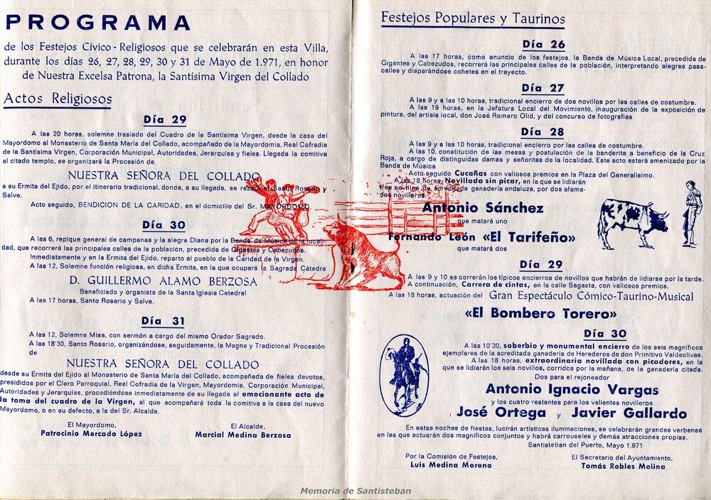 Programación Fiestas 1971