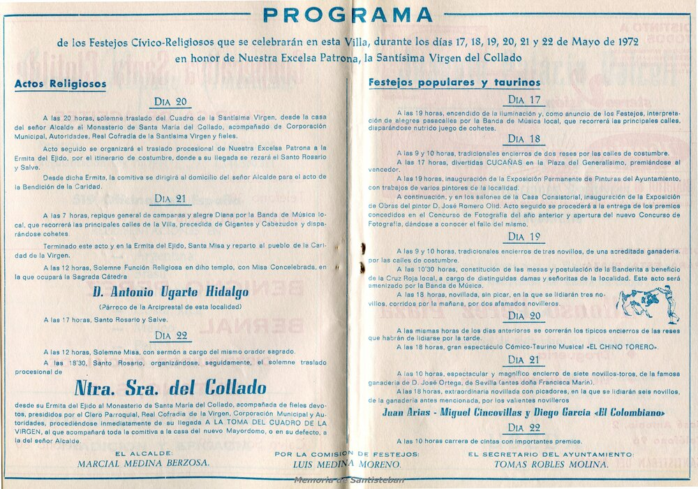 Programación Fiestas 1972