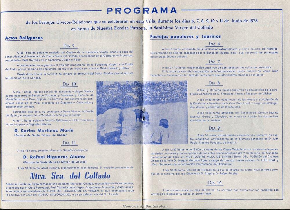 Programación Fiestas 1973