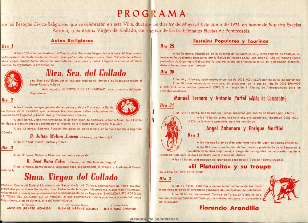 Programación Fiestas 1974