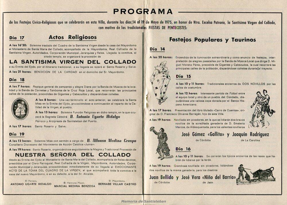 Programación Fiestas 1975