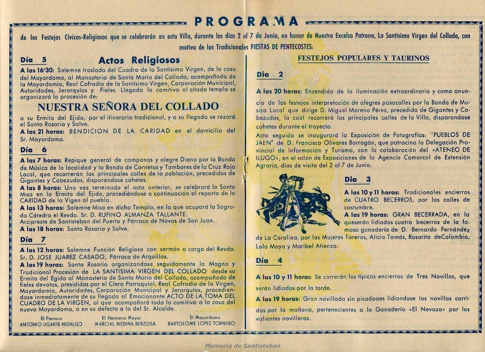 Programación Fiestas 1976