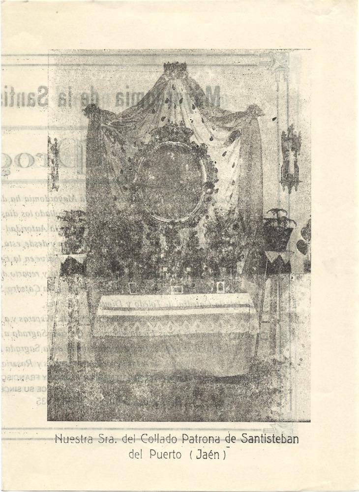Programa de festejos religiosos de la Mayordomía 1934-35